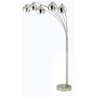 Signature 85 inch 60 watt Brushed Steel Arc Floor Lamp Portable Light
