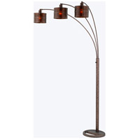 Cal Lighting BO-2036-3L Mica 91 inch 60 watt Rust Arc Floor Lamp Portable Light