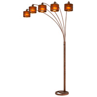 Mica 85 inch 60 watt Rust Arc Floor Lamp Portable Light