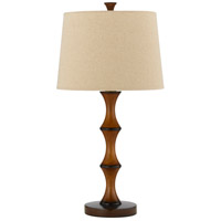 Bamboo 28 inch 150 watt Bamboo Table Lamp Portable Light