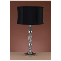 Cal Lighting BO-2079TB Canora 29 inch 150 watt Chrome Table Lamp Portable Light