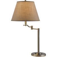 Cal Lighting BO-2350TB-BS Dana 29 inch 150 watt Brushed Steel Swing Arm Table Lamp Portable Light