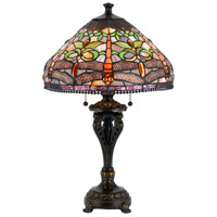 Cal Lighting BO-2355TB Tiffany 26 inch 60 watt Antique Bronze Table Lamp Portable Light photo thumbnail