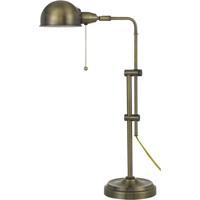 Cal Lighting BO-2441DK-AB Croby 24 inch 60 watt Antique Brass Pharmacy Desk Lamp Portable Light