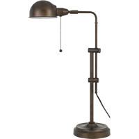 Cal Lighting BO-2441DK-RU Croby 24 inch 60 watt Rust Pharmacy Desk Lamp Portable Light