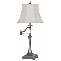 Madison 31 inch 150 watt Antiqued Silver Swing Arm Table Lamp Portable Light