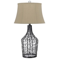 Cal Lighting BO-2458TB Palestine 32 inch 150 watt Iron Wire and Clear Table Lamp Portable Light