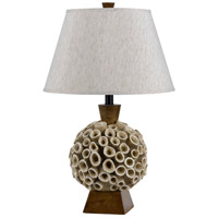 Cal Lighting BO-2483TB Coral 26 inch 150 watt Brown Table Lamp Portable Light
