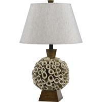 Cal Lighting BO-2483TB Coral 26 inch 150 watt Brown Table Lamp Portable Light