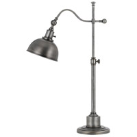 Cal Lighting BO-2588TB-AS Portico 22 inch 60 watt Antiqued Silver Table Lamp Portable Light