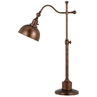Cal Lighting BO-2588TB-RU Portico 22 inch 60 watt Rust Table Lamp Portable Light
