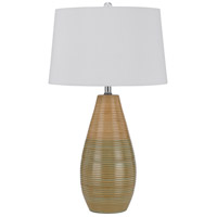Signature 27 inch 150 watt Wood Green Table Lamp Portable Light