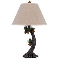 Pinecone 28 inch 150 watt Evergreen Table Lamp Portable Light