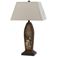 Pompano 30 inch 150 watt Distressed Rope Table Lamp Portable Light