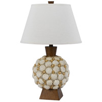 Cal Lighting BO-2614TB Seashell 25 inch 150 watt Shell Table Lamp Portable Light