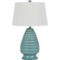 Cal Lighting BO-2634TB-2 Signature 29 inch 150 watt Aqua Blue Table Lamp Portable Light