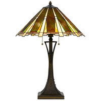 Cal Lighting BO-2645TB Tiffany 28 inch 60 watt Dark Bronze Table Lamp Portable Light