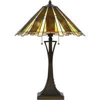 Cal Lighting BO-2645TB Tiffany 28 inch 60 watt Dark Bronze Table Lamp Portable Light