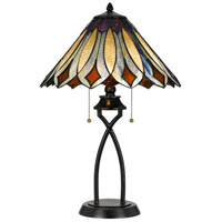 Cal Lighting BO-2648TB Tiffany 23 inch 60 watt Dark Bronze Table Lamp Portable Light