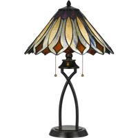 Cal Lighting BO-2648TB Tiffany 23 inch 60 watt Dark Bronze Table Lamp Portable Light