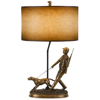 Cal Lighting BO-2660TB Hunter 31 inch 150 watt Cast Bronze Table Lamp Portable Light