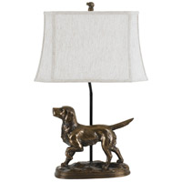 Golden Retreiver 29 inch 150 watt Cast Bronze Table Lamp Portable Light
