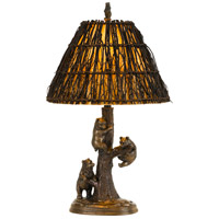 Bear 30 inch 150 watt Cast Bronze Table Lamp Portable Light