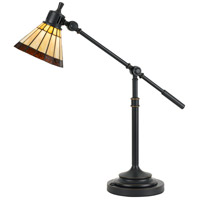 Tiffany 26 inch 7 watt Dark Bronze Desk Lamp Portable Light