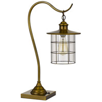 Cal Lighting BO-2668DK-BAB Silverton 25 inch 60 watt Rubbed Antiqued Brass Desk Lamp Portable Light