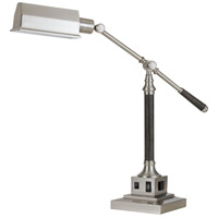 Cal Lighting BO-2687DK Angelton 36 inch 60 watt Brushed Steel and Wood Desk Lamp Portable Light