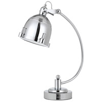 Cal Lighting BO-2688DK Hubble 22 inch 60 watt Chrome Desk Lamp Portable Light