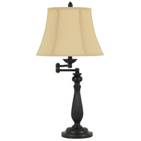 Cal Lighting BO-2716SWTB-DB Barnwell 29 inch 150 watt Dark Bronze Swing Arm Table Lamp Portable Light