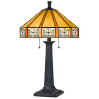 Cal Lighting BO-2718TB Tiffany 25 inch 60 watt Tiffany Table Lamp Portable Light