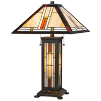 Tiffany 25 inch 60 watt Tiffany Table Lamp Portable Light