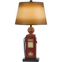 Cal Lighting BO-2729TB Nostalgic 31 inch 150 watt Rust Brick Table Lamp Portable Light