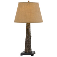 Tree Trunk 30 inch 150 watt Antique Bronze Table Lamp Portable Light
