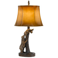 Bear 31 inch 150 watt Antique Bronze Table Lamp Portable Light