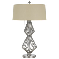 Cal Lighting BO-2741TB Terni 30 inch 60 watt Brushed Steel Table Lamp Portable Light