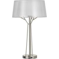 Cal Lighting BO-2759TB Lawton 28 inch 100 watt Brushed Steel Table Lamp Portable Light