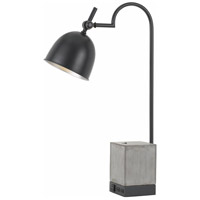 Beaumont 30 inch 60 watt Black and Cement Desk Lamp Portable Light
