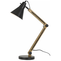 Scotia 29 inch 60 watt Dark Bronze and Wood Desk Lamp Portable Light