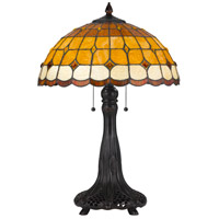Cal Lighting BO-2797TB Tiffany 25 inch 60 watt Table Lamp Portable Light