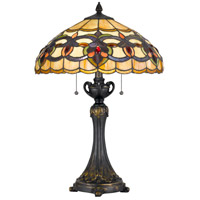 Cal Lighting BO-2800TB Tiffany 25 inch 60 watt Table Lamp Portable Light