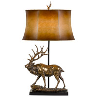 Cal Lighting BO-2807TB Lodge 31 inch 150 watt Antique Bronze Table Lamp Portable Light