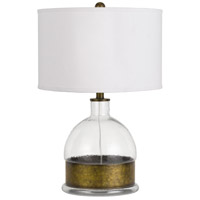 Rapallo 25 inch 150 watt Antiqued Brass Table Lamp Portable Light