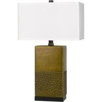 Cal Lighting BO-2810TB Genoa 30 inch 150 watt Antique Brass and Black Table Lamp Portable Light