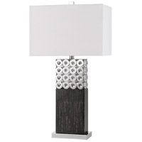 Jesi 30 inch 150 watt Brushed Steel Table Lamp Portable Light
