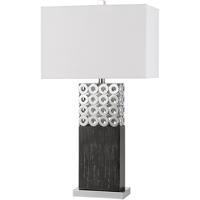 Cal Lighting BO-2813TB Jesi 30 inch 150 watt Brushed Steel Table Lamp Portable Light