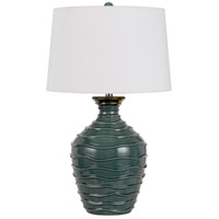 Cal Lighting BO-2816TB Oristano 29 inch 150 watt Teal Table Lamp Portable Light