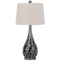 Cal Lighting BO-2827TB Novara 30 inch 150 watt Antique Silver Table Lamp Portable Light
